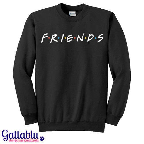 Felpa unisex uomo o donna Friends, nera, serie tv inspired