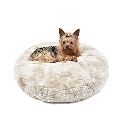 Peluche Plush Luxury Cuddle Cloud Round Eco-Wool-Filled Dog/Pet Bed (