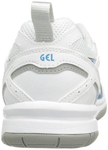 Zapato de entrenamiento Gel Acclaim para mujer, Blanco / Plateado / Azul, 8 M US