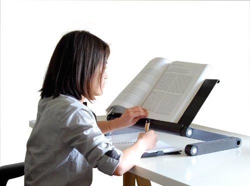 Uncaged Ergonomics Adjustable Height/Angle Reading Textbo...