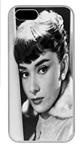 iPhone 5S Case, iPhone 5S Cases -Audrey Hepburn 43 Polycarbonate Hard Case Back Cover for iPhone 5/5S White