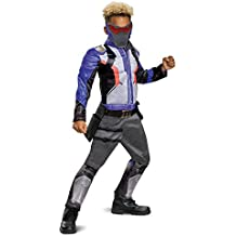 Disguise Soldier: 76 Classic Muscle Child Costume, Blue, Large/(10-12)