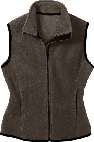 Port Authority Ladies R-Tek Fleece Vest, X-Small, Brown (Ladies R-tek Authority Port Fleece)