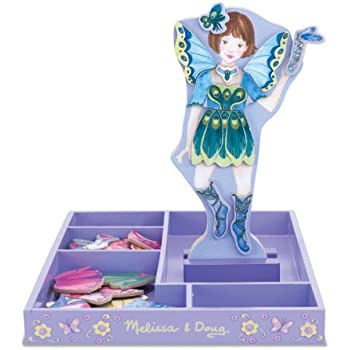Melissa & Doug Petal Fairy Wooden Dress-Up Doll and Stand - 54 Magnetic Accessories