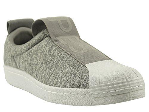 adidas Damen Superstar Bw3s Slipon W Gymnastikschuhe, Grau (Grey Two F17/Grey Three F17/Ftwr White), 41 1/3 EU