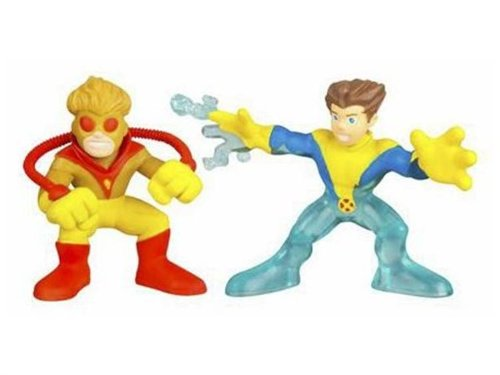 Marvel Super Hero Squad Series 5 Pyro /& Iceman 3 Action Figure 2-Pack Hasbro Toys