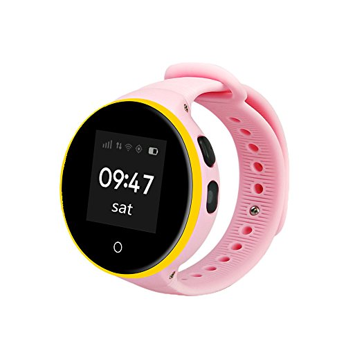 Dreamyth ZGPAX S668A Children Smart Watch IP54 Waterproof GPS lSOS Wristwatch Practical (Pink) ()
