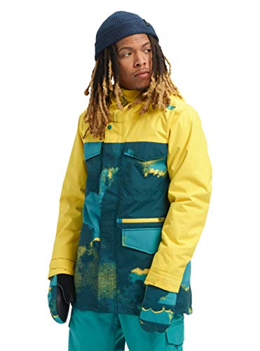 Burton Men's Covert Jacket, 92 Air/Maize, - Pouch Taffeta