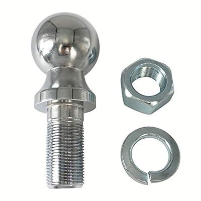 Codinter Towing Hitch Balls, 1-7/8 inch Chrome Trailer Ball 3,500 lbs. GTW, 1 inch Shank Diameter, 2-1/8 inch Shank Length: Automotive