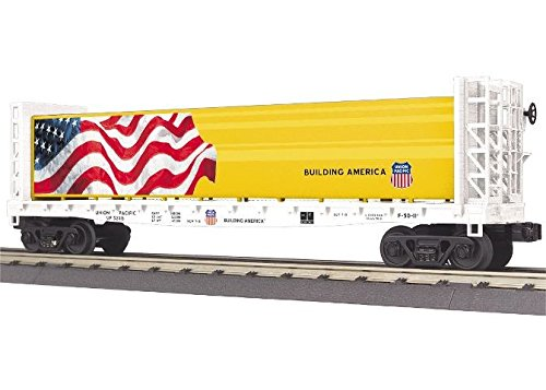 MTH Flat Car - w/Bulkheads & Lumber Load Union Pacific (Flat Pacific Car Union)