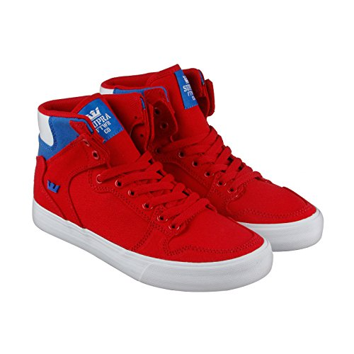 Supra Mens Vaider D Shoes Size 8 Red/Royal-White