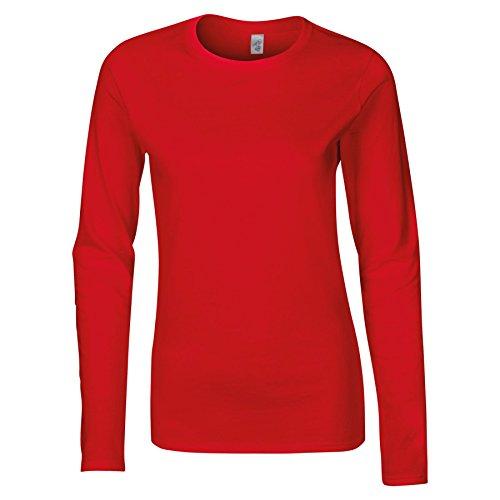 Gildan-Womens Tops-Shirts-Softstyle long sleeve t-shirt-