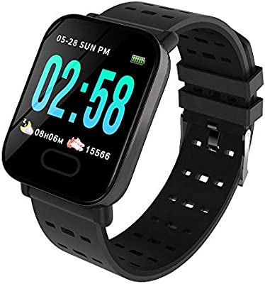 Aolvo A6 Bluetooth Smart Watch for Android iPhones,Bluetooth Smartwatch Touchscreen IP67 Waterproof Smart Watches Waterproof Smart Wrist Watch,Heart ...