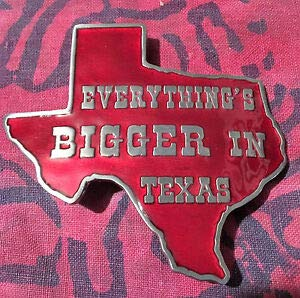 Everything is Bigger in Texas Belt Buckle New by ()