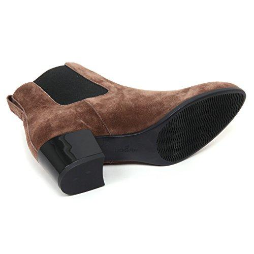 B7570 tronchetto donna HOGAN H272 stivaletto marrone chiaro boot shoe woman marrone chiaro