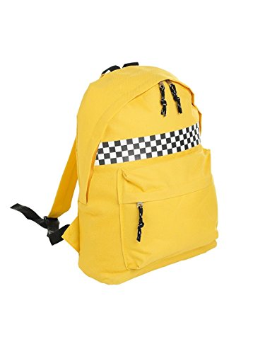 Minga London Yellow Checkered Backpack School Bag Tumblr Hipster Checkerboard Skate Grunge