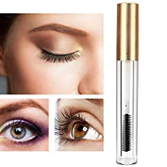 Features: 1. Made of high grade plastic material, which is safe, non-toxic and reusable. 2. Matte gold bottle cover with transparent bottle body, more unique and attractive to girls. 3. Soft and fine silicone brush head to help you create per...