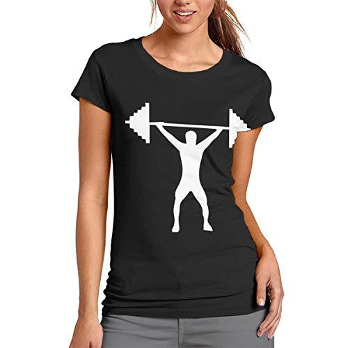 Weightlifting Silhouette-1 Custom Women's Short Sleeve T Shirts Tops T-Shirt ()