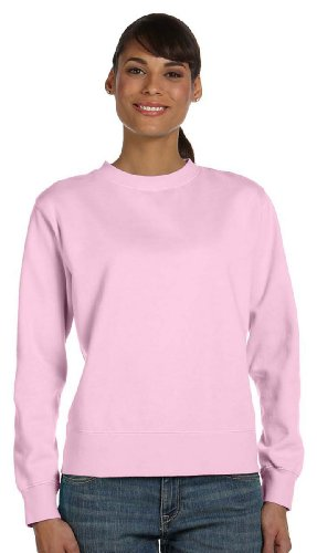 Comfort Colors Women's Wide-Band Fleece Crewneck Sweatshirt, BLOSSOM, Small (Band Crewneck Sweatshirt)