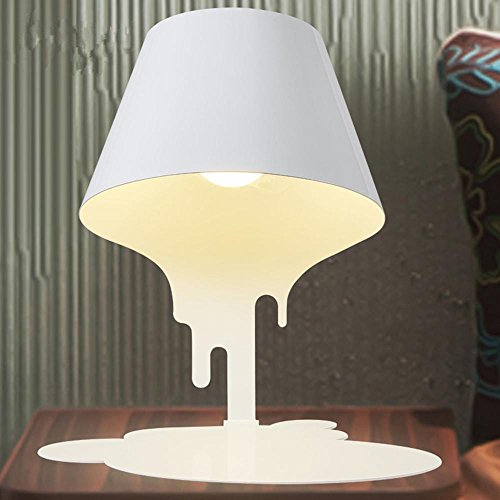 E27 Melting Table Lamp Modern Minimalist Style Creative Living Room Bedroom Bedside Cabinet Art Decoration , b