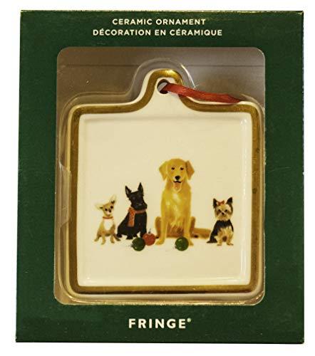 Fringe Studio Dog Family Square Ceramic ()