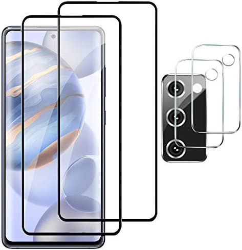 [2+2 Pack] for Samsung Galaxy S20 FE Screen Protector and Camera Protector, [Support Sensor Fingerprint] Premium Adhesive, Bubble Free, Tempered Glass Screen Protector for Samsung Galaxy S20 FE 5G