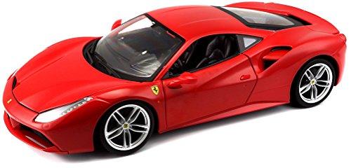 - Ferrari Burago 1/18 Scale Diecast - 18-16008 488 GTB Rosso red