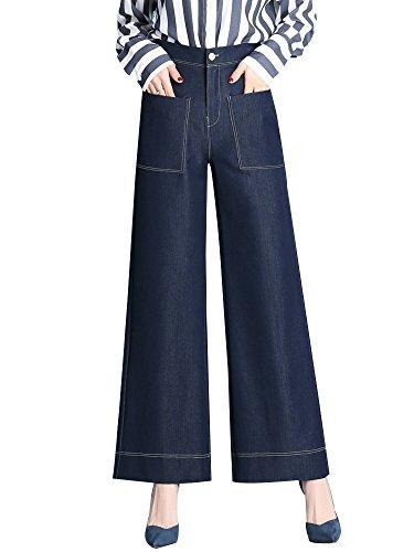Gooket Women's High Waist Tencel Denim Wide Leg Palazzo Pant Blue 1006 Tag 30-US 8 by Gooket