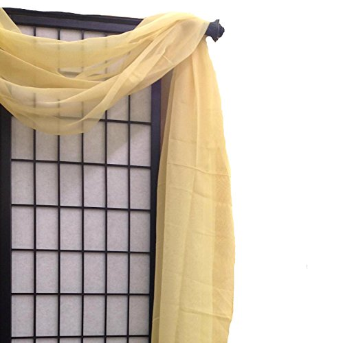 Qutain Home Solid Color Sheer Scarf Valance 216