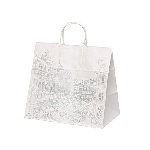 【ケース販売】 手提袋 HV75 ロンドン 巾:340×:220×高さ:315㎜ 200枚(50枚×4包) B079ZS4HVD