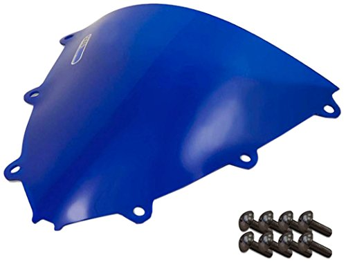 Sportbike Windscreens ADHW-109B Blue Windscreen (Honda Cbr 1000RR (08-11) With Silver screw kit), 2 Pack