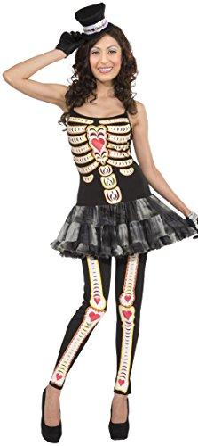 El Dia De Los Muertos Costumes (Forum Women's Day Of The Dead Costume, Multi, Standard)