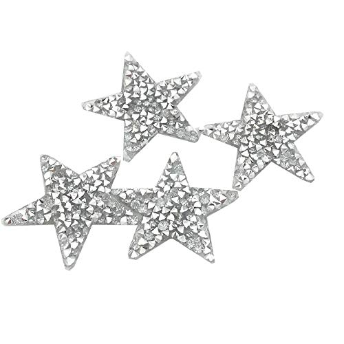 (RD garden 10pcs Bling Bling Star Rhinestone Iron on Applique Patches Adhesive Stick Star Heat Transfer Garment Trimmings)