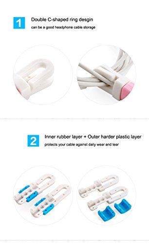 Universal Earphone Charger Cable CaseSack Cord Organizer Headsets(2pcs in-Ear Headphones Automatic Cable and Cord Keeper for Mobile Phone Cable