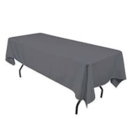 Superbe LinenTablecloth Rectangular Polyester Tablecloth, 60 Inch By 102 Inch,  Charcoal