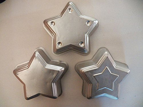 Star Cake Pans 7.75 inch x 7.75 inch - Set of 3