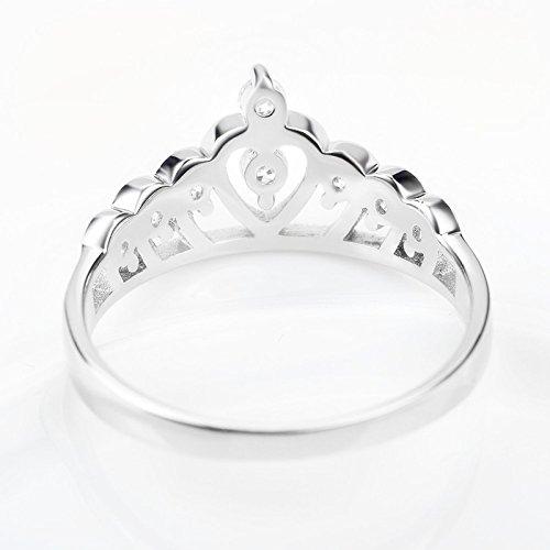 Skyllc Anillo de boda de la manera de la plata esterlina del corazón de la princesa: Amazon.es: Juguetes y juegos