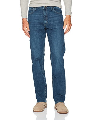 Jeans Blue Fit Dark - Wrangler Authentics Men's Classic Relaxed Fit Jean, Slate Flex, 36X30