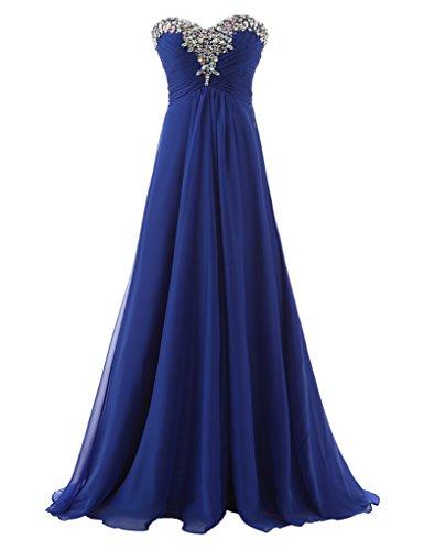 Erosebridal Langes Schatz Königsblau Trägerloses Formale Ballkleid Abendkleider rPrWSfx