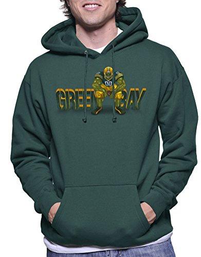 Greenbay Giant Football Hooded Sweatshirt XXXL Forest