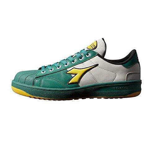 日用品 靴シューズ関連商品 【セーフティシューズ】 KW651 【カラー】グリーン/イエロー/ホワイト 【サイズ】24.5cm EEE B07FCDWPVH