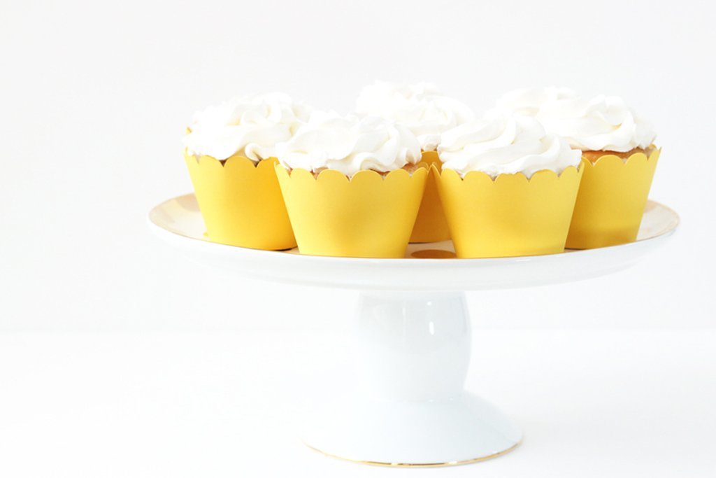 Yellow Cupcake Wrappers Yellow Party Supplies Cupcake Liners Gender Neutral Girls Birthday Party Baby Shower Cupcake Wrappers