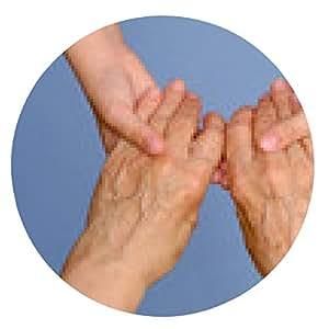 alfombrilla de ratón Mujer de edad avanzada y de la niña de la mano juntos - ronda - 20cm