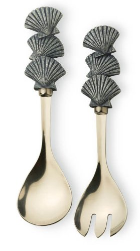 (Boston International Salad Server Utensil Set, Shore Thing)