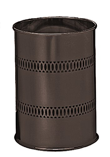 Taymor Oil Rubbed Bronze Round Metal Wastebasket (Wastebasket Industries Metal)