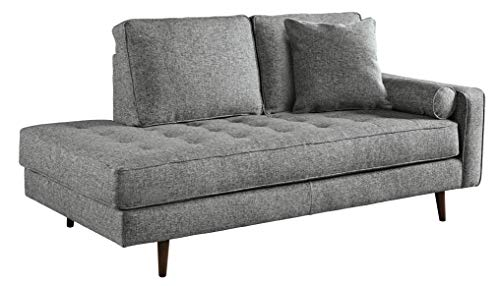 Signature Design by Ashley 1140217 Zardoni Right Arm Facing Corner Chaise, Charocal (Sectional Facing Right Chaise)