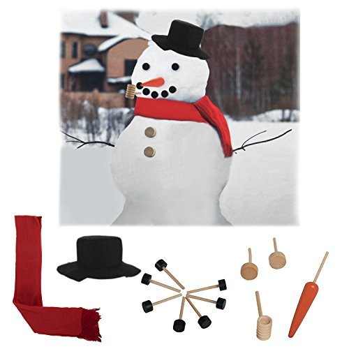 Idea Source (13 Piece) Snowman Kit Classic Costume Outdoor Outfit Hat Scarf Buttons (Into The Woods Costume Ideas)