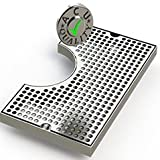 "Cut Out Surface Mount Drip Tray - 7"" X 12"" X ¾"" for 5"" Flange - Stainless Steel # 4 Brushed Finish"