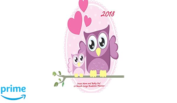 2018 Sweet Mom and Baby Owl 18 Month Large Academic Planner ...