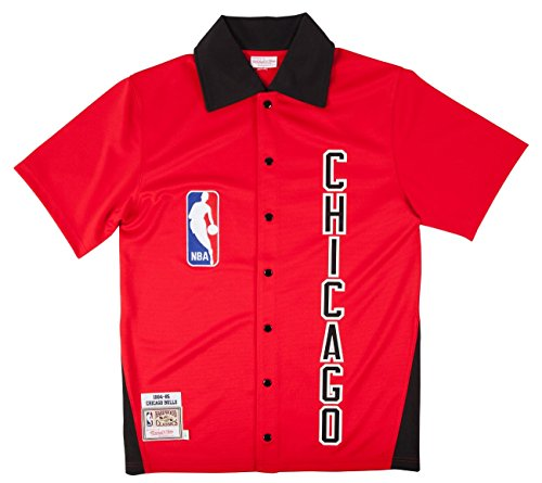 Mitchell & Ness Chicago Bulls 1984-85 Shooting Jersey in Red. S-5XL.